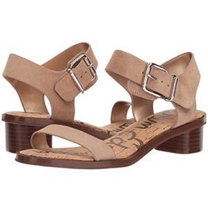 Sam Edelman Trina 2 Suede Leather Buckle Sandals